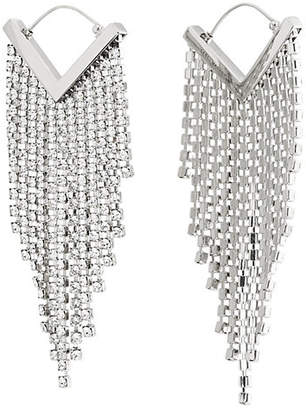 Isabel Marant Women's Crystal Chandelier Earrings - Silver