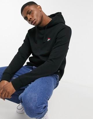Fila front-logo luka hoodie in black