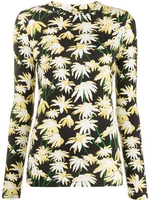 Loewe daisy-print long sleeved T-shirt