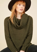 ModCloth Homecoming 'Round the Mountain Sweater in Moss in 2X