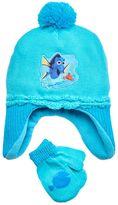 Disney Pixar Finding Dory Nemo & Dory Toddler Girl Fleece Hat & Mittens Set