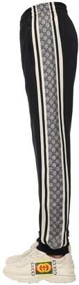 Gucci COTTON BLEND JERSEY TRACK PANTS