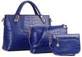Donaword Women O Padock Pueather Handbag Set Bue