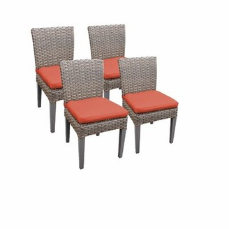 Rochford Sol 72 Outdoor Patio Dining Chair with Cushion Sol 72 Outdoor Cushion Color: Tangerine