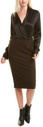 Max Mara Trento Silk & Wool Sheath Dress