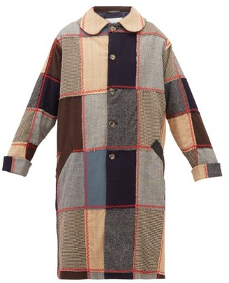 Bode Topstitched Patchwork Wool Coat - Multi