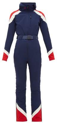 Perfect Moment Allos Soft Shell All In One Ski Suit - Womens - Navy