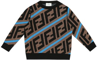 Fendi Kids FF wool sweater