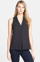 Vince Camuto Petite Women's Pleat Front V-Neck Top