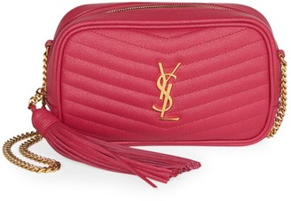 Saint Laurent Monogram Leather & Chain Mini Bag