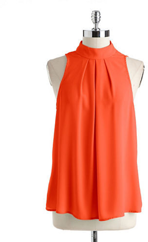 SUNNY AND 71 High-Collared Sleeveless Top