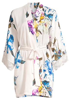In Bloom Still In Love Floral Satin Robe