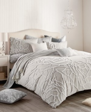Peri Home Chenille Rose King Comforter Set Bedding