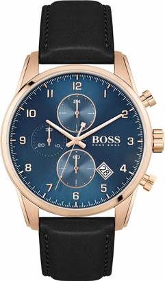 HUGO BOSS Men's Analogue Quartz Watch with Leather Strap 1513783
