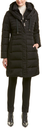 T Tahari Tahari Mia Fitted Puffer Coat