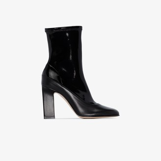 Wandler black Lesly 100 leather ankle boots