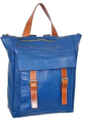 Nino Bossi Handbags Women's Backpacks Blue - Blue Ainsley Leather Backpack