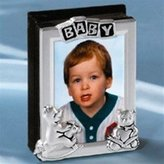 Godinger Silver Art SILVER PLATED PURSE SIZE BABY 2X3 PICTURE ALBUM - baby picture album
