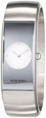 Jacob Jensen Womens Analogue Quartz Watch with Stainless Steel Strap JJ470