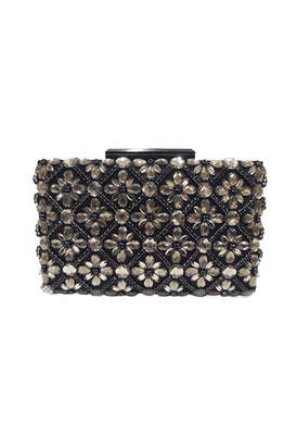 Sondra Roberts Jeweled Satin Clutch
