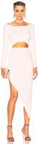 Baja East Cotton Full Needle Dress in Pink.
