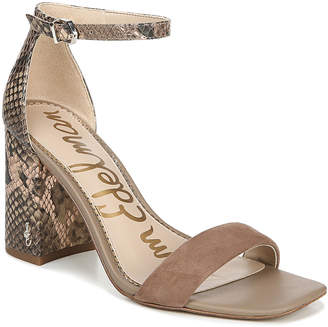 Sam Edelman Daniella Mixed Leather Ankle Sandals