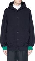 Marni Contrast cuff hooded jacket