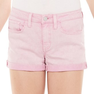 So Juniors' Low Rise Double Roll Shortie Shorts