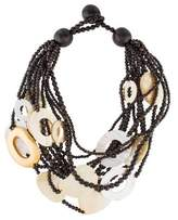 Viktoria Hayman Wood & Mother of Pearl Multistrand Necklace