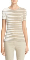 Armani Collezioni Women's Alternating Stripe Tee