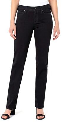 Liverpool Sadie Straight Jeans in Black Rinse (Black Rinse) Women's Jeans