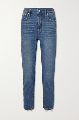 Madewell Cropped Distressed High-rise Slim-leg Jeans - Light denim