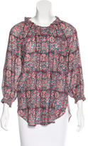 Figue Floral Three-Quarter Sleeve Blouse