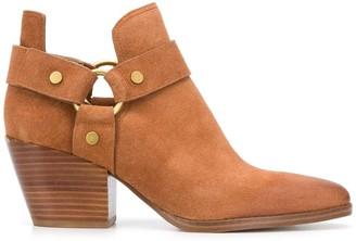 MICHAEL Michael Kors Strap Detail Ankle Boots