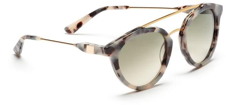 Westward Leaning Double Bridge 1 Sunglasses Gold Leopard