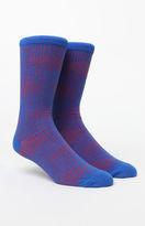 Richer Poorer Tyrell Blue & Red Crew Socks