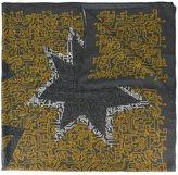 Furla star print scarf