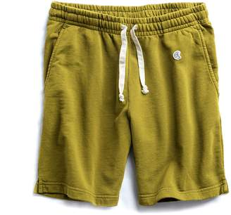 Todd Snyder + Champion Terry Warm Up Short in Lime Leaf