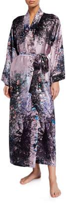 Christine Lingerie Mystique Floral-Print Silk Robe