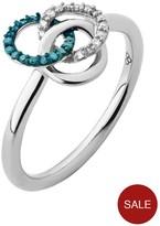 Links of London Treasured Sterling Silver, White & Blue Diamond Ring