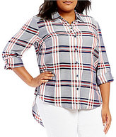 Westbound Plus Roll Sleeve Twin Print Shirt