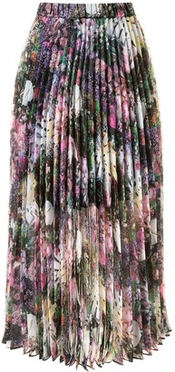 Romance Was Born Montmartre Flowers pleated skirt