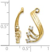 jewelryPot 14k Yellow Gold SI2 Diamond Earrings jacket. Carat Wt- 0.21ct (0.8IN x 0.3IN)