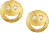 Tai CZ Heart-Eye Emoji Stud Earrings