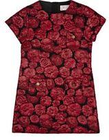 Lanvin ROSE-PATTERN JACQUARD DRESS-RED SIZE NA