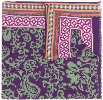 Etro Floral Print Cashmere Scarf