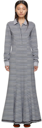 Y/Project Grey Stripe Polo Dress