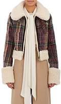 Chloé Women's Shearling-Trimmed Tweed Crop Jacket