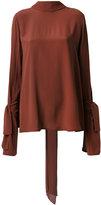 Marni cuff tie blouse - women - Silk/Acetate - 40