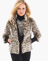 Chico's Faux-Fur Swing Jacket